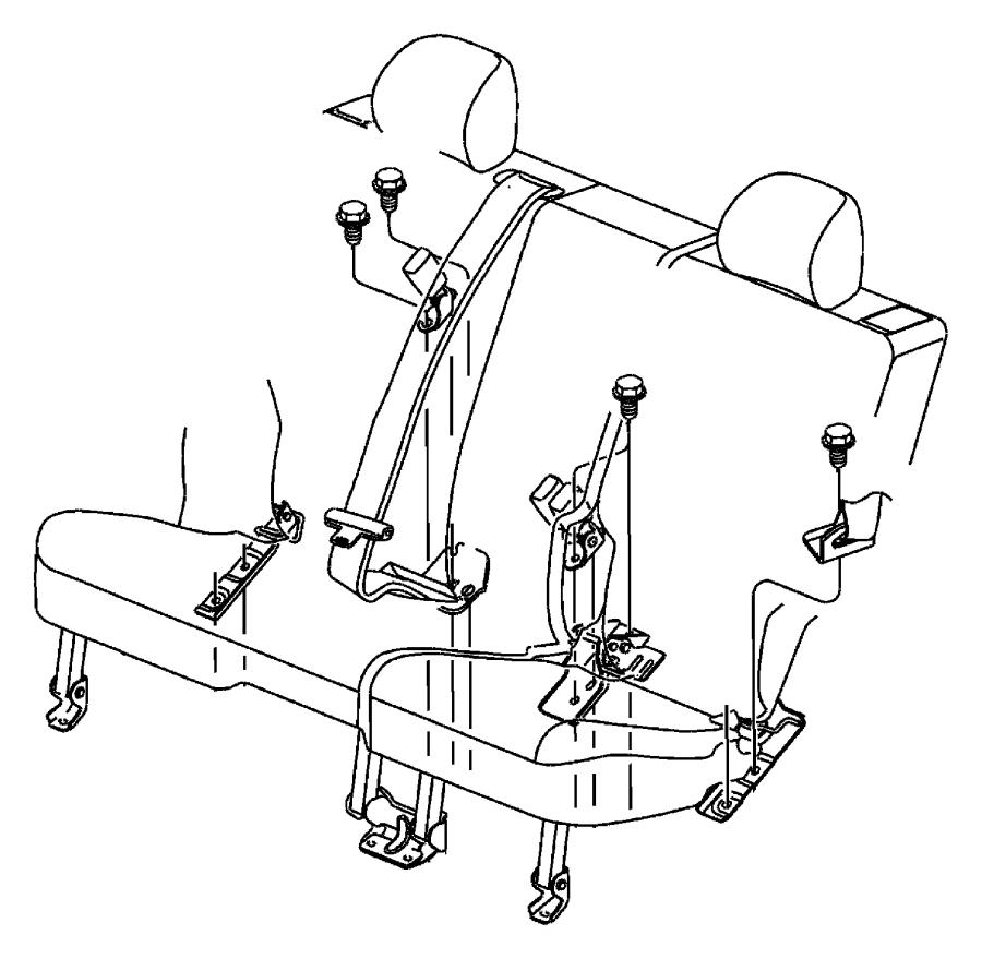 Jeep Liberty Seat belt. Buckle half. [j3]. Trim: [all trim
