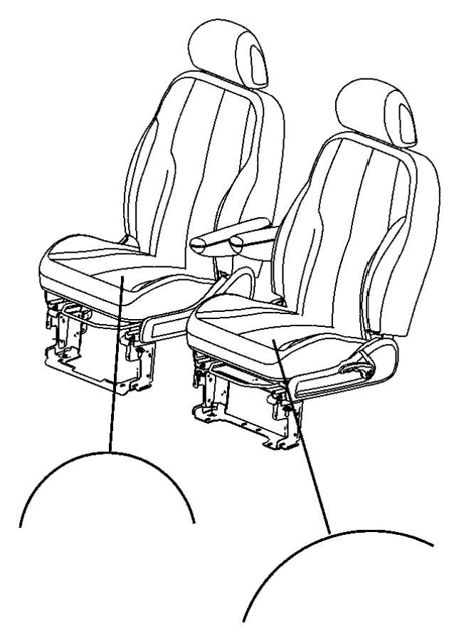 Chrysler Pt Cruiser Wiring. Power seat. Driver, passenger