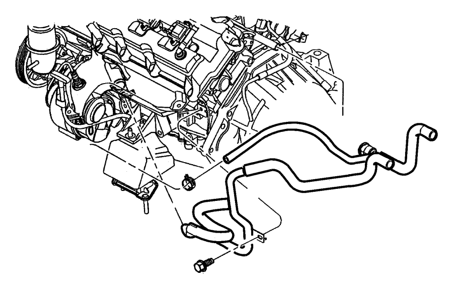 2000 Chrysler Lhs Coolant Recovery System Heater Plumbing.