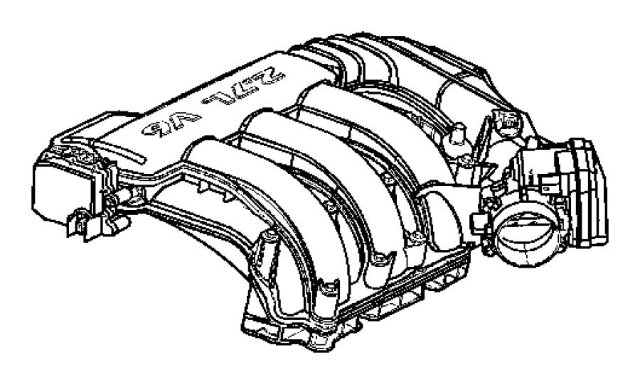 Dodge Nitro Gasket. Throttle body. [4.0l v6 sohc engine