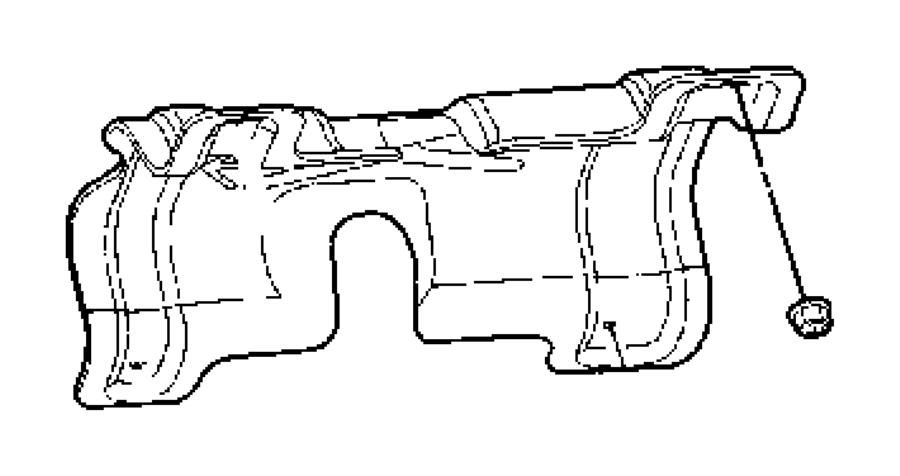 2005 Chrysler 300 Heat shield, shield. Drive shaft