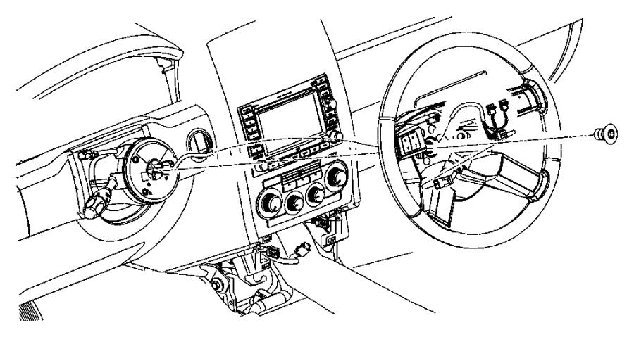 Chrysler 300 Wiring. Steering wheel. Trim: [all trim codes