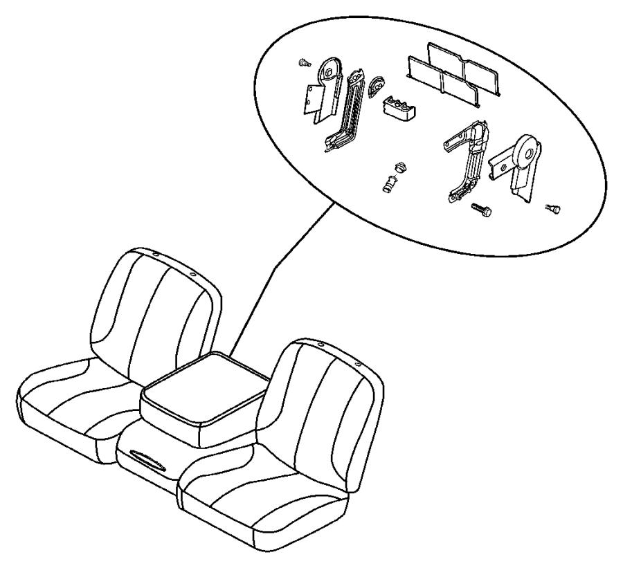 Dodge Ram 3500 Base. Armrest. [j3]. Trim: [leather trim 40