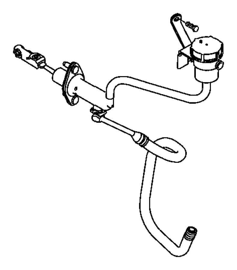 Dodge Neon Actuator. Hydraulic clutch. Linkageclutchlhd