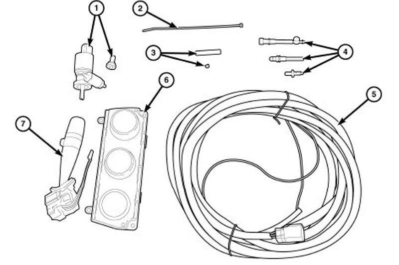 Jeep Wrangler Hardtop wiring kit for vehicles without