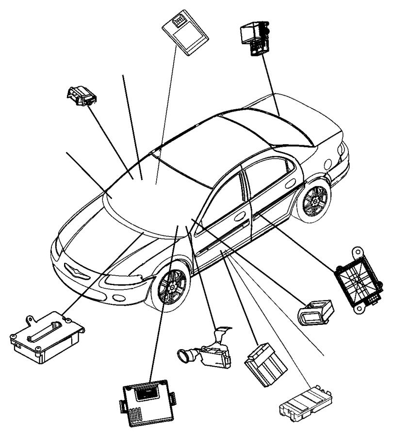 Chrysler Pt Cruiser Relay. Convertible top. Control module