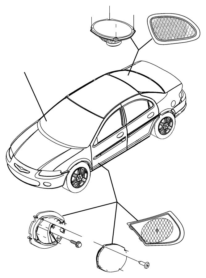 Chrysler Sebring Speaker. Rear. 6x9. [4 speakers