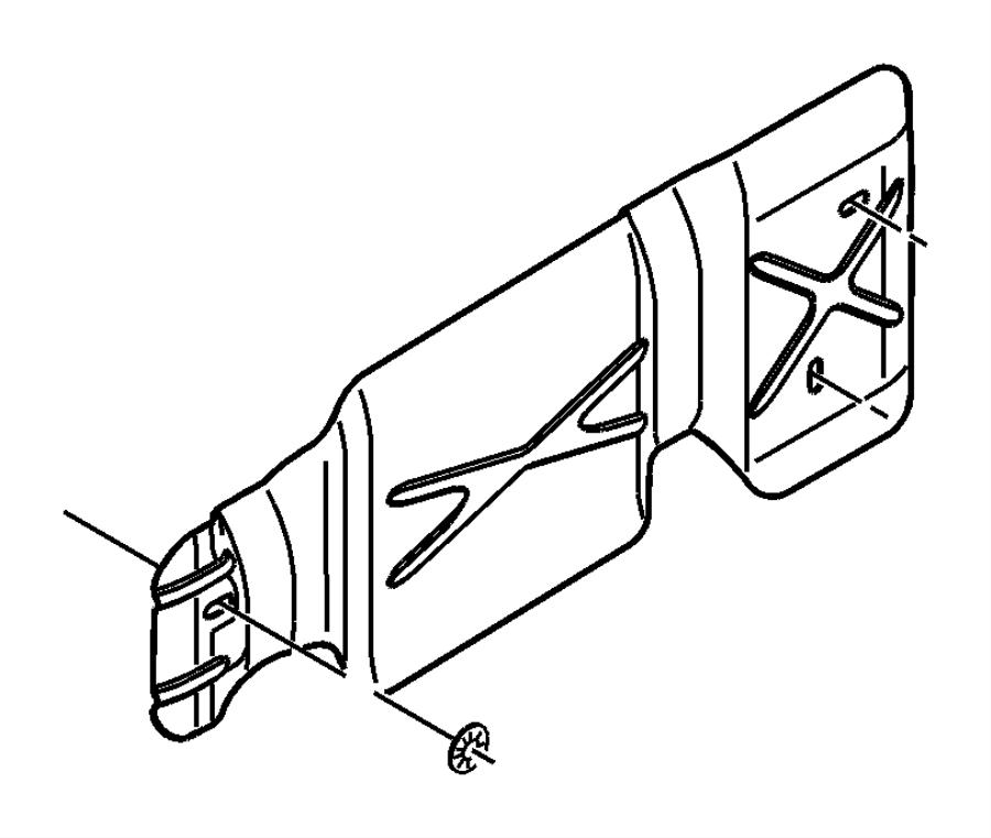 Dodge Ram 2500 Shield. Fuel tank heat, heat. [fuel tank