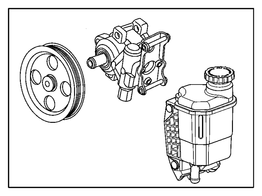 2006 Dodge Steering pump kit. Used for: pump and pulley