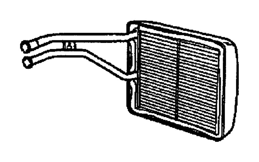 2013 Jeep Wrangler Heater. Heater core assembly