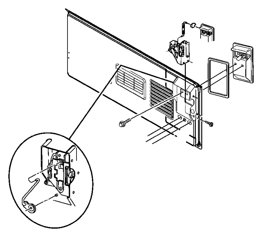 1993 Jeep Wrangler Latch. Tailgate. Latch, tailgate. 1991