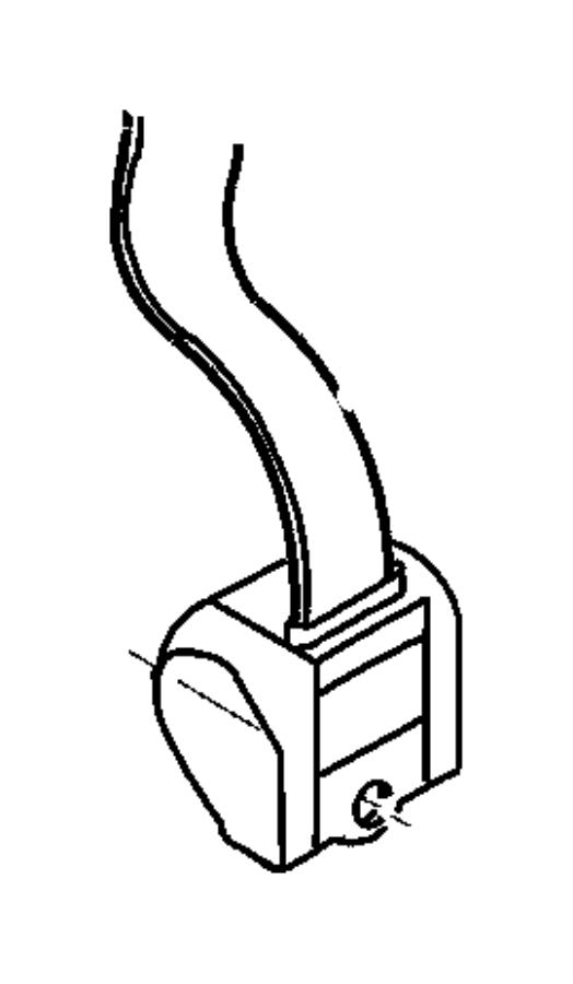 2006 Jeep Wrangler Seat belt. Rear outer. Trim: [all trim