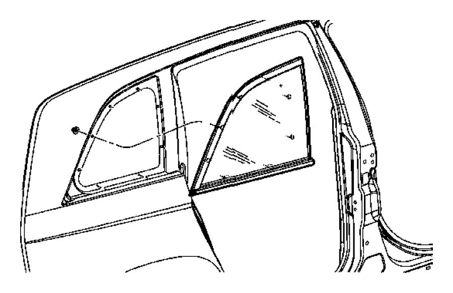 Chrysler Pacifica Glass. Quarter window. Right