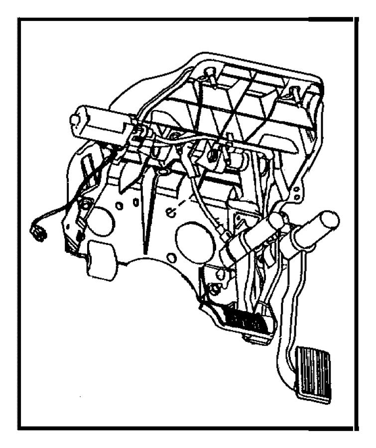 Dodge Ram 1500 Pedal. Accelerator. Controlled