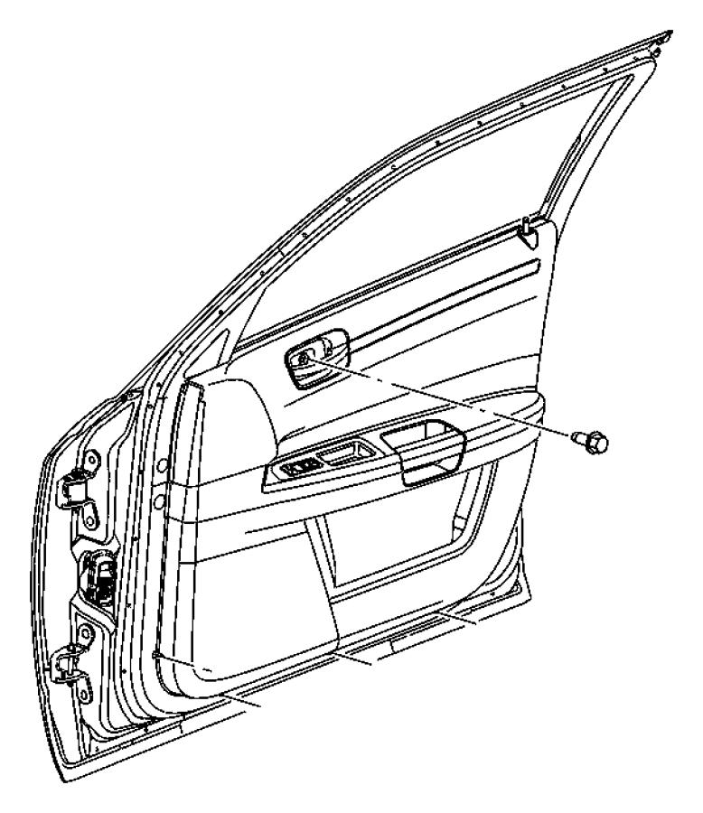 Chrysler 300 Bezel. Remote handle. Right. [d1], [d1