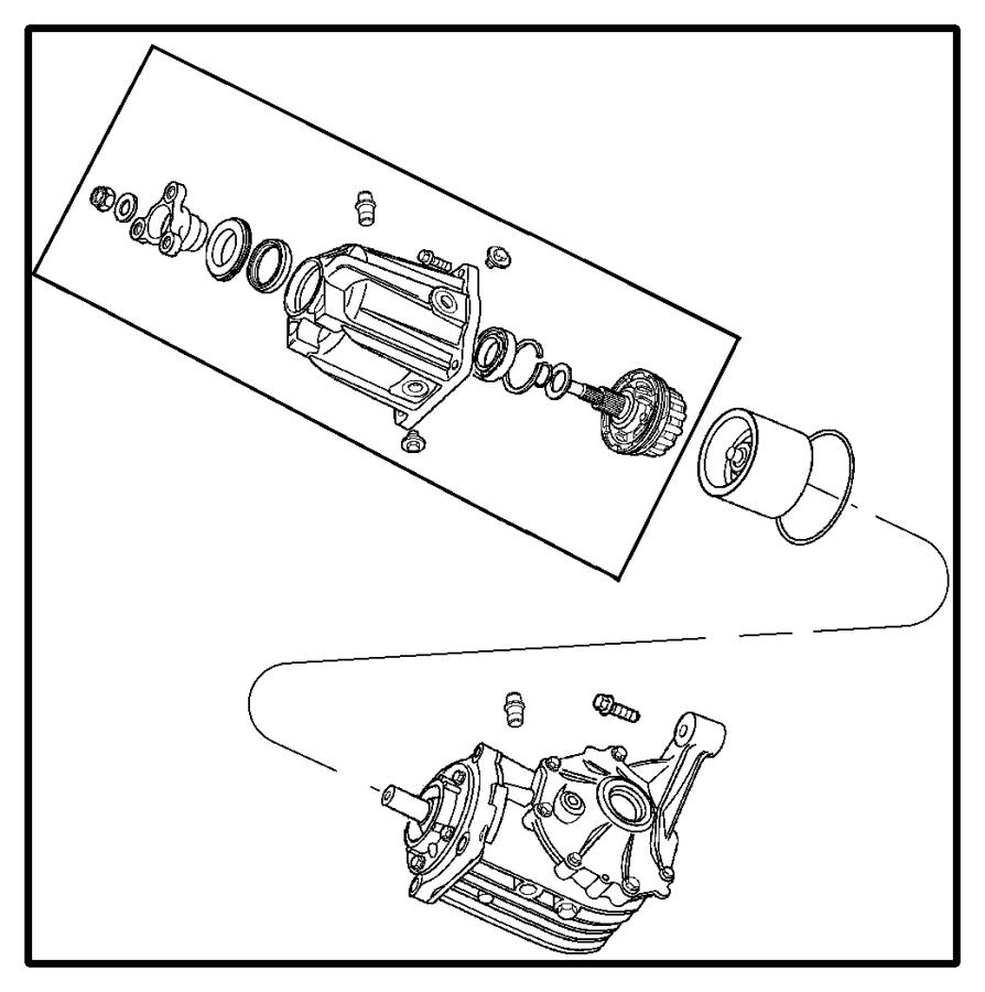 2014 Dodge Journey Seal. Output shaft. One per side