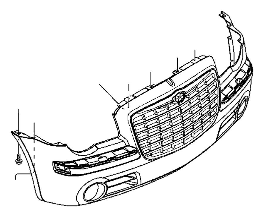 2007 Chrysler Fascia. Front. Primed. [srt8]. Washertire
