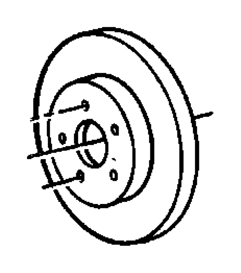 Chrysler Grand Voyager Rotor. Brake. Magneti marelli
