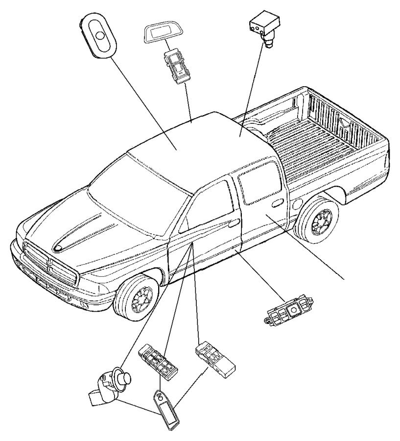 Dodge Durango Bezel. Power window switch. [d5], [db]. Trim