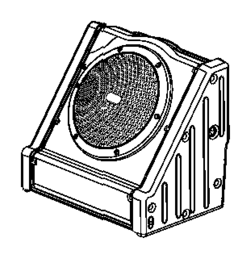 Dodge Ram 1500 Bracket. Speaker. [8 infinity speakers w