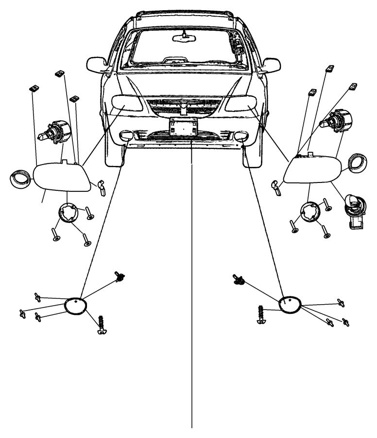 Dodge Grand Caravan Lamp. Headlamp. Left. Ratiomps