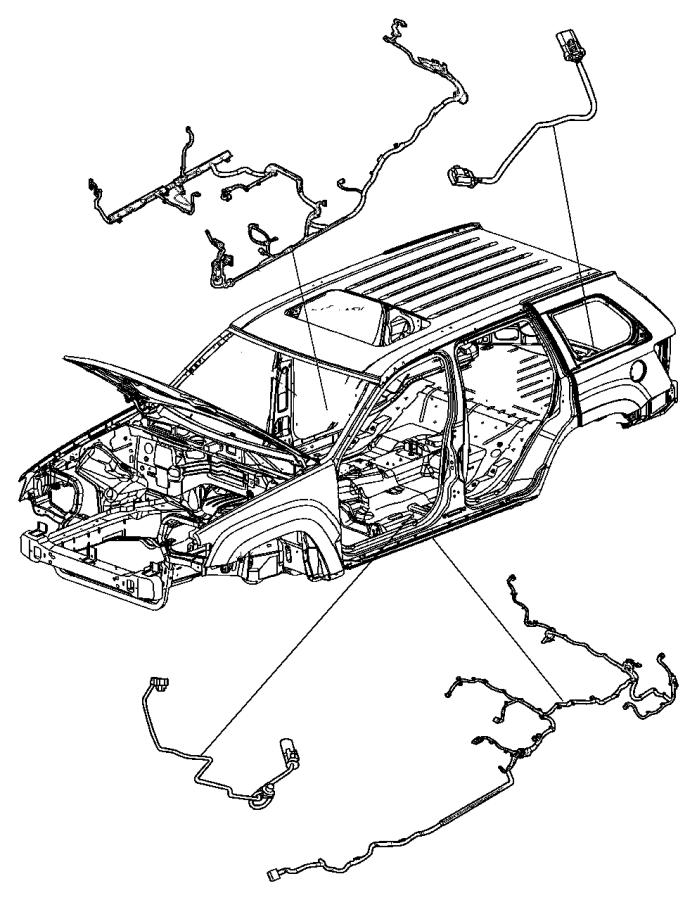 Jeep Grand Cherokee Wiring. Underbody. [quadra-trac ii