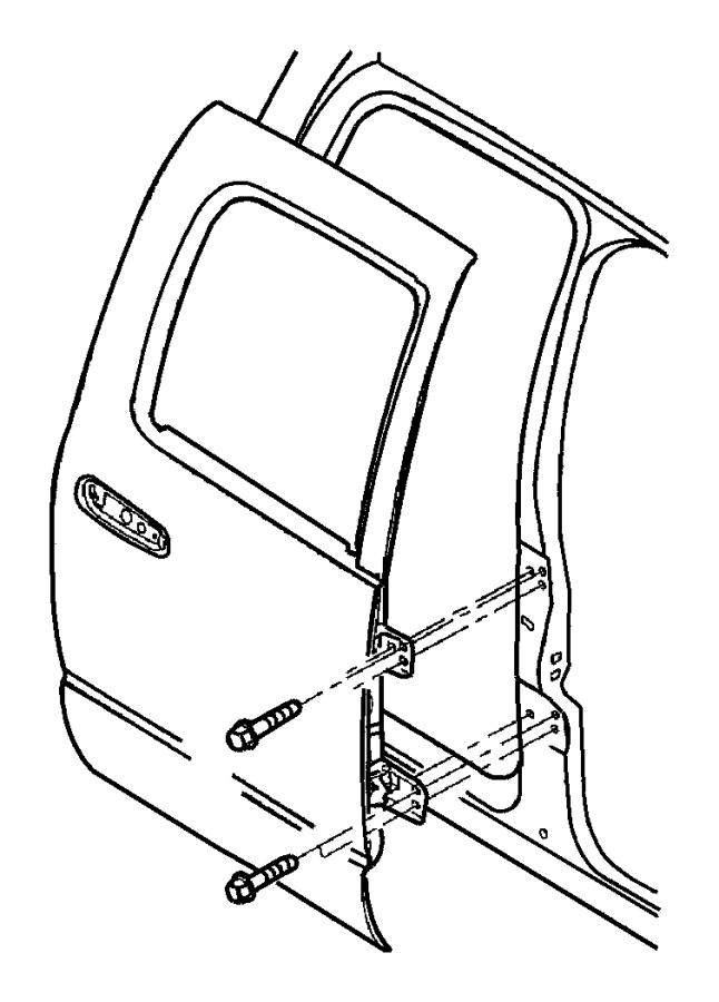 Dodge Ram 1500 Hinge. Door half. Left, upper left