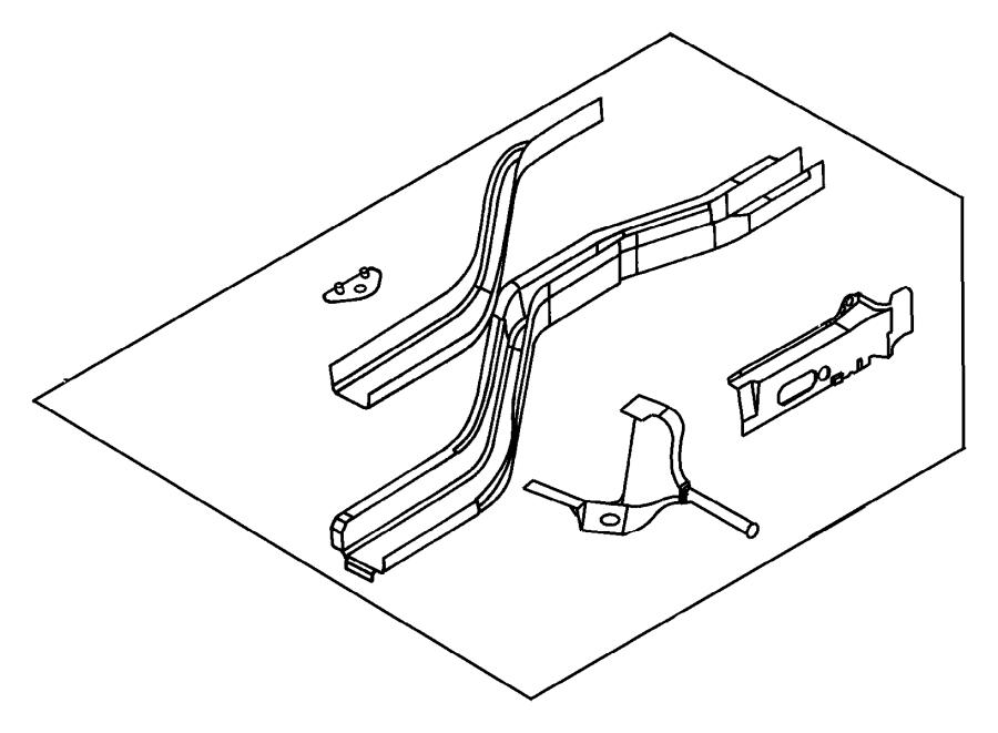 Dodge Neon Bracket. Exhaust hanger. Front, front right