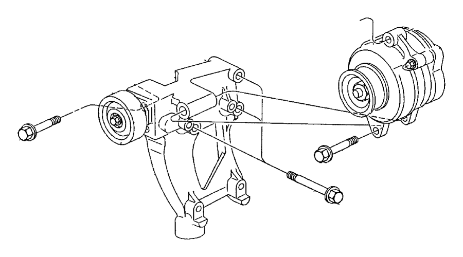 Plymouth Breeze Generator. Engine. [90 amp alternator