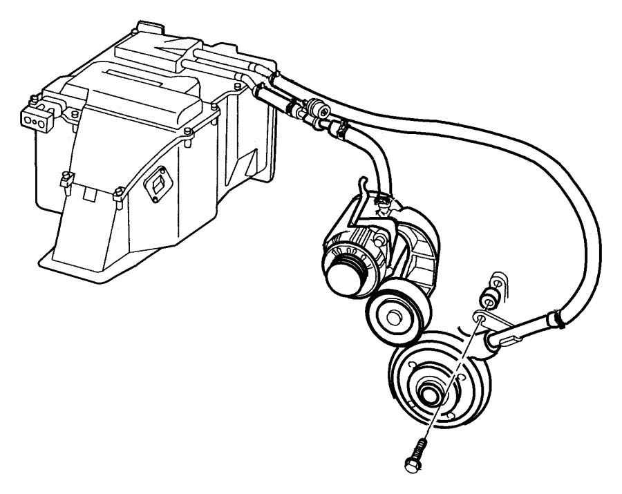Dodge Intrepid Spacer. Heater return tube. Spacer, heater