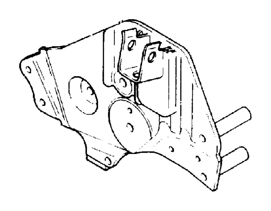 Plymouth Grand Voyager Bracket. Engine mount. Efa