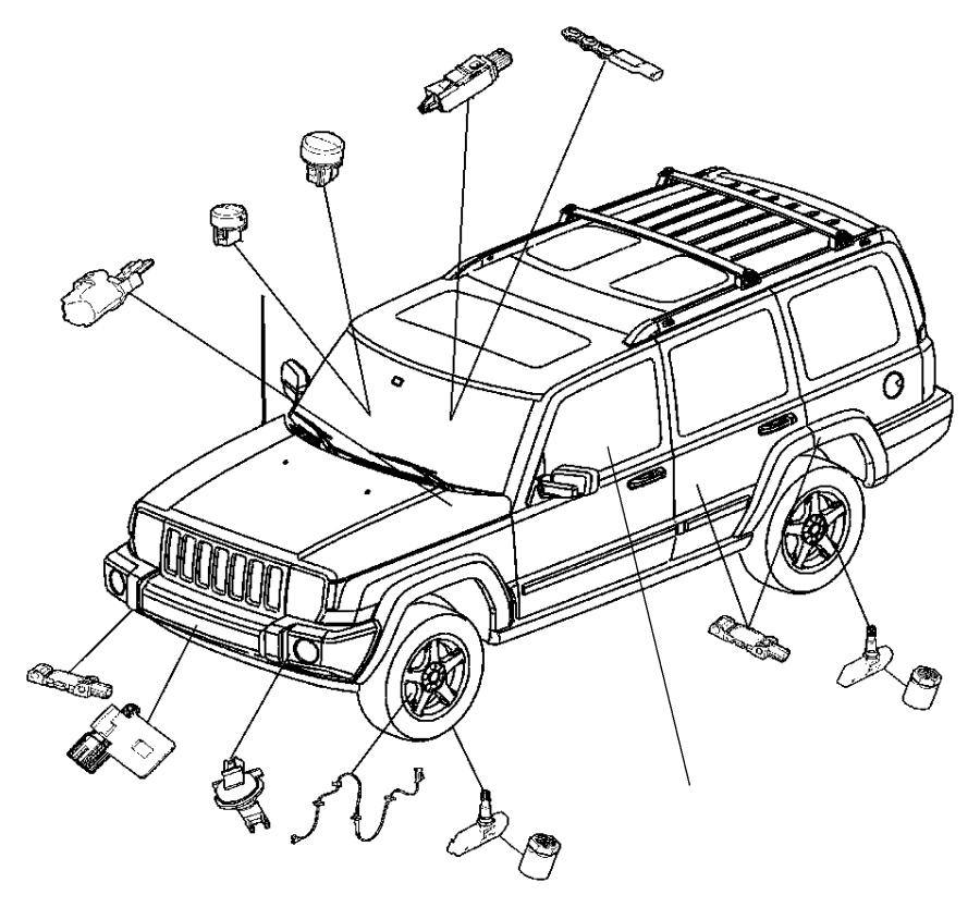 Charger Air Bag Module, Impact Sensors, and Clockspring.