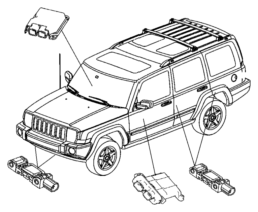 2006 Dodge Charger Module. Occupant classification. Trim