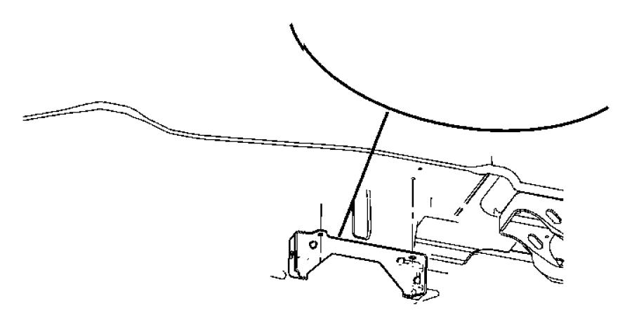 2002 Dodge Grand Caravan Equalizer. Parking brake cable