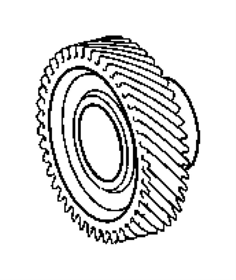 Chrysler Crossfire Gear. Countershaft. Countertshaft
