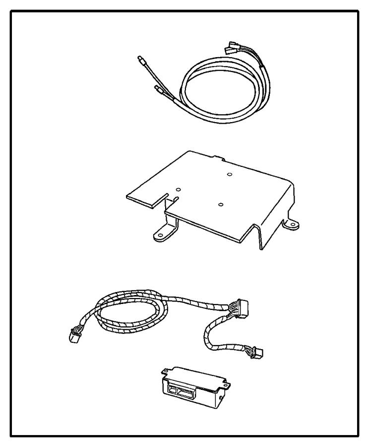 Chrysler Pacifica Install kit. Satelite receiver
