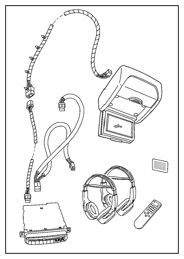 Chrysler Town & Country Wiring. Dvd jumper. [6-disc in