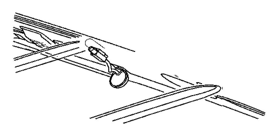 Dodge Ram 1500 Wiring. Radio, satellite antenna jumper