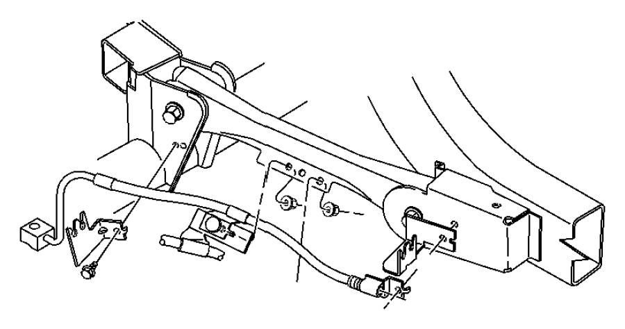 2004 Jeep Wrangler Hose. Brake. Rear. Hosesrearlhdrhd