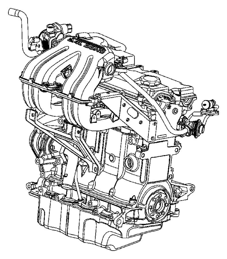Chrysler Voyager Strut. Engine. Intake manifold. Center