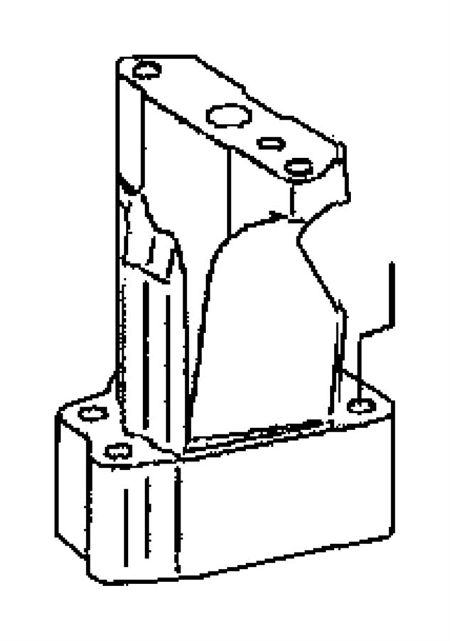 Dodge SPRINTER Gasket. Turbocharger. Lower, turbo bracket