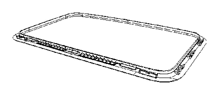 Dodge Caliber Seal. Sunroof glass. Trim: [no description