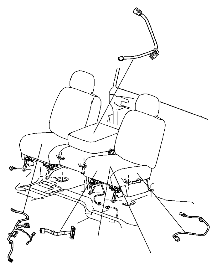 Dodge Ram 3500 Wiring. Seat. Trim: [leather trim 40/20/40