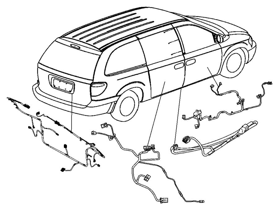 Dodge Grand Caravan Wire track. Sliding door right. Lower