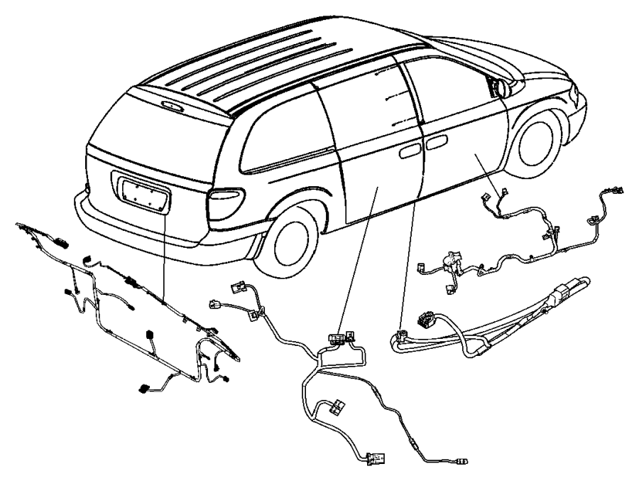 Dodge Grand Caravan Wiring. Liftgate. [rear window