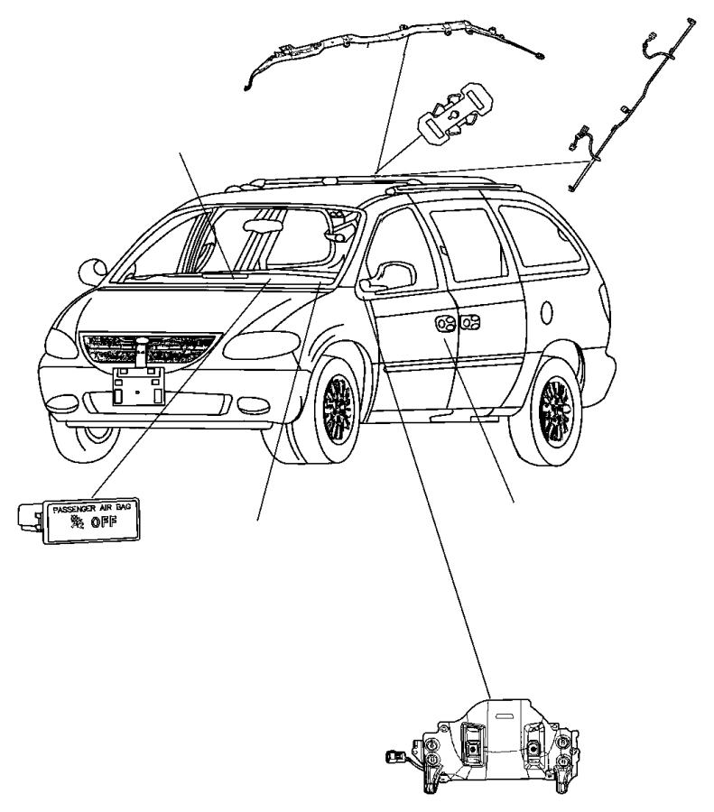 Dodge Grand Caravan Wiring. Side air bag jumper