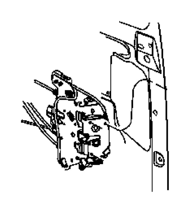 Chrysler Voyager Latch. Sliding door. Right. Manual doors
