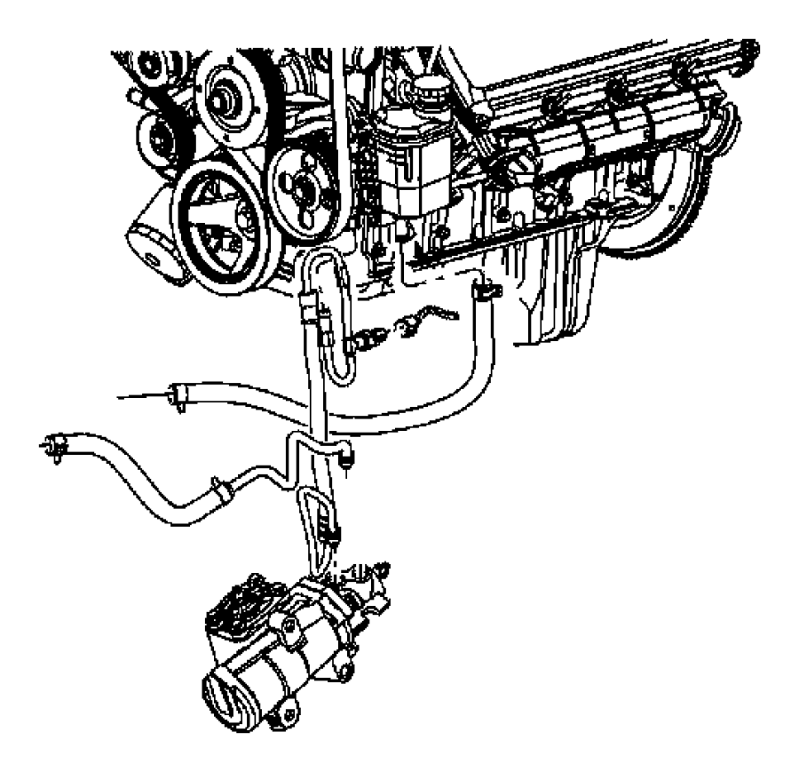 2006 Dodge Ram 2500 Hose. Power steering return