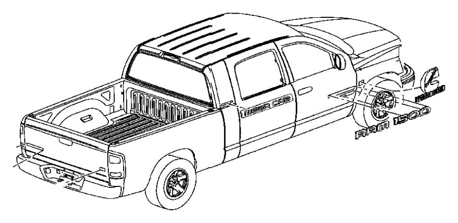 Dodge Ram 1500 Nameplate. Ram 2500. Ram 2500 heavy duty