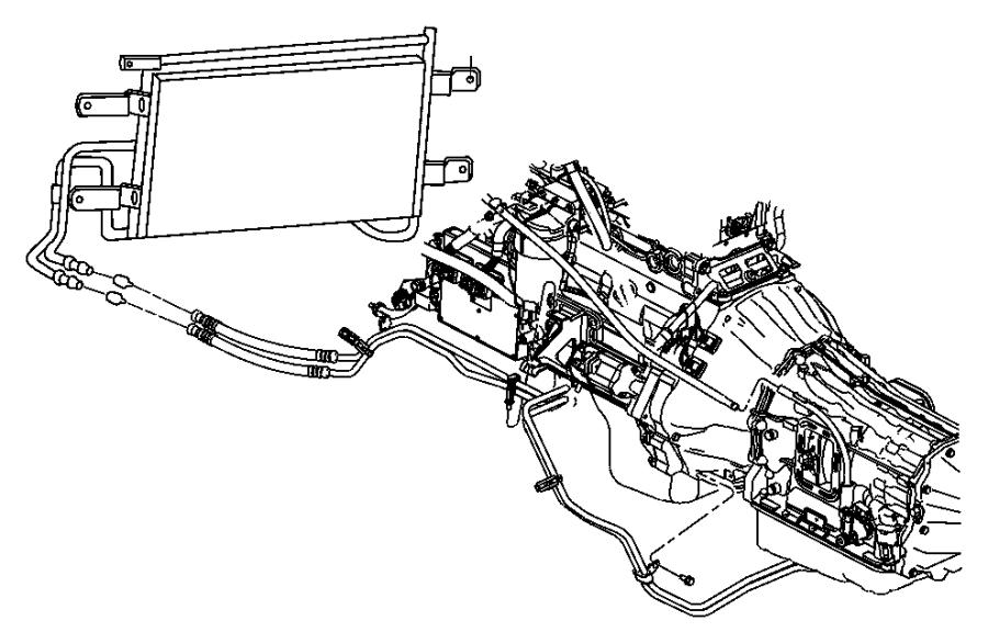 Dodge Ram 3500 Clip. Tube. Fog lamp wiring, line to line